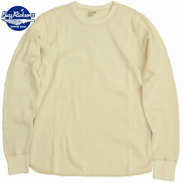 BUZZ RICKSON'S(バズリクソン)サーマルシャツ ロングスリーブ ナチュラル Thermal Shirt Long Sleeve Natural