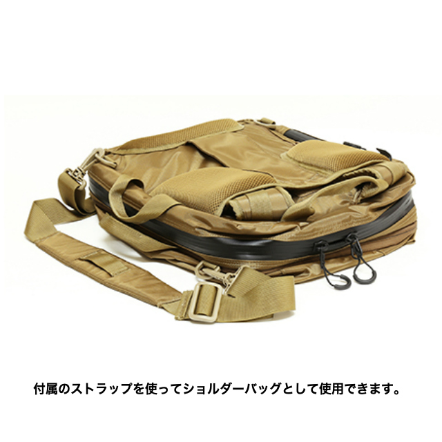 J-TECH(ジェイテック)TALUS-2 3-WAY 2-COMPARTMENS CARRYING BAG [3ウェイバッグ][Black、Coyote Brown、Foliage Green、Navy]