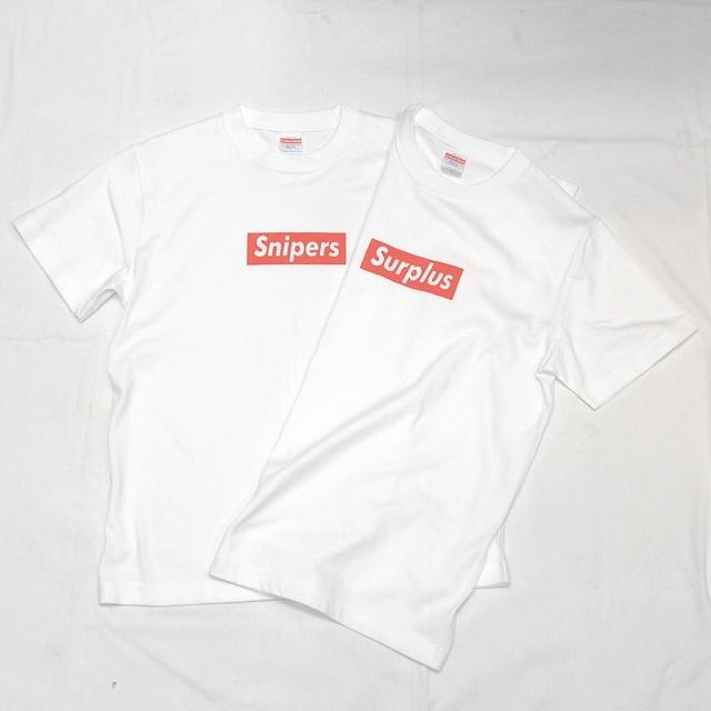 【Military Style/ミリタリースタイル】ボックス ロゴ Tシャツ WHITE [SURPLUS/サープラス][SNIPERS/スナイパー]