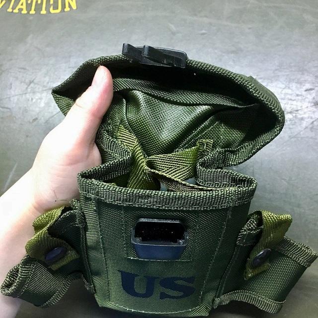 MILITARY(ミリタリー)M16 LC-1タイプ30連マガジンポーチ OD USマーク付き