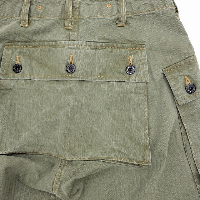 BUZZ RICKSON'S(バズリクソン)USMC HERRINGBONE PANTS 米海兵隊 ヘリンボーン パンツ [BR40435]