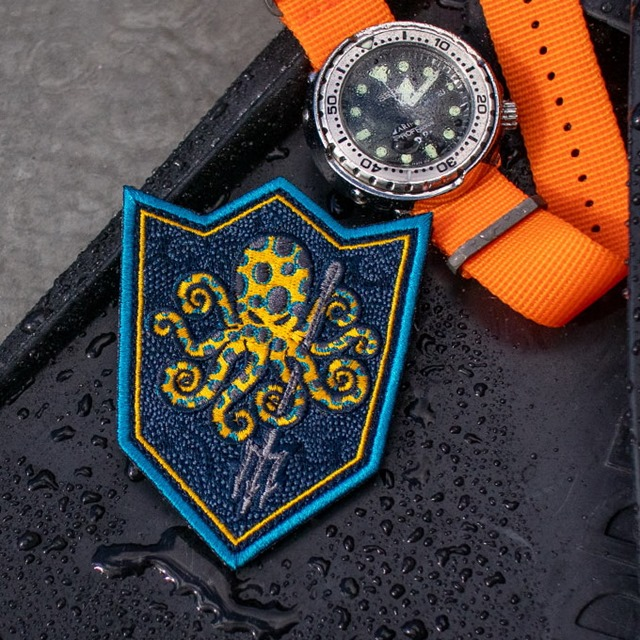 PROMETHEUS DESIGN WERX (プロメテウスデザインワークス) SPD Kraken UET Blue Ringed Morale Patch [フック付き]