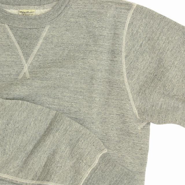 BUZZ RICKSON'S(バズリクソン)セットイン スリーブ スウェット シャツ ヘザーグレー Set-In Sleeve Sweat Shirts Heather Gray[BR65622]