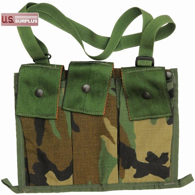 US(米軍放出品)MOLLE II Ammunition Pouch Bandoleer [Woodland][マガジンポーチ][バンダリア]