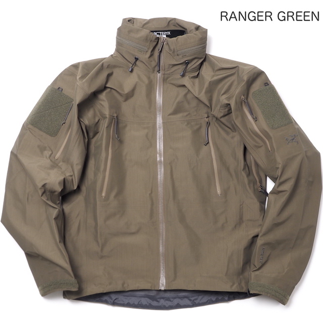 ARC'TERYX LEAF(アークテリクス リーフ)Alpha Jacket(Gen2)[Black][Crocodile][Ranger Green][Wolf]