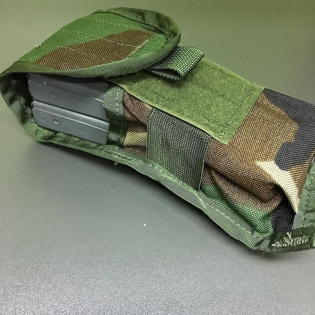 US(米軍放出品)M4 シングル 2マガジンポーチ Woodland [M-4 Double Magazine CQB Style 4050 SDS製]