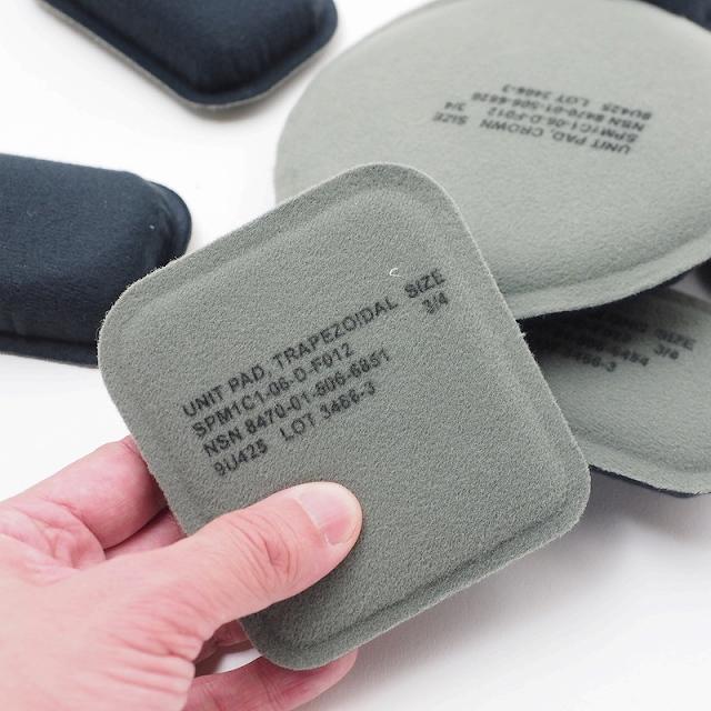 US(米軍放出品)MICH/ACH用ヘルメットパッドセット 7枚セット [未使用品]