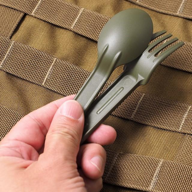 Tritensil(トライテンシル)Mini [スプーン フォーク ナイフセット][Tactical Green]