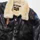 MORGAN MEMPHIS BELLE(モーガン メンフィスベル)TYPE D-1 クラシック ミリタリー ジャケット [ムートン製] 【中田商店】