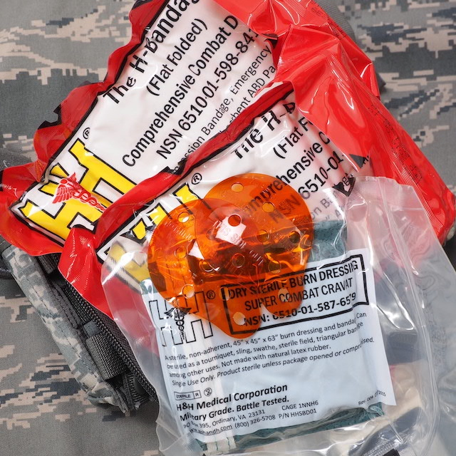 US(米軍放出品)USAF JFAK ファーストエイドキットセット 中身入り [ABU][JOINT FIRST AID KIT]