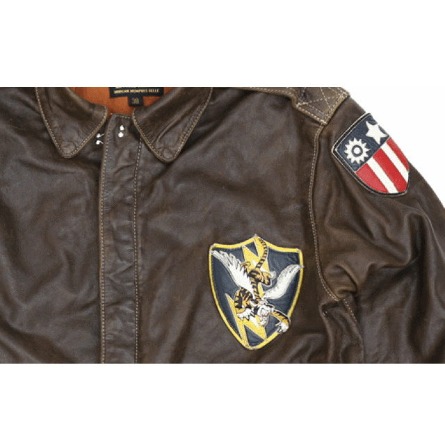 MORGAN MEMPHIS BELLE(モーガン メンフィスベル)Type A-2 FLYING TIGERS クラシック フライトジャケット [ANTIQUE BROWN][GOAT SKIN 山羊(ヤギ)皮革] [第14空軍 フライングタイガース]
