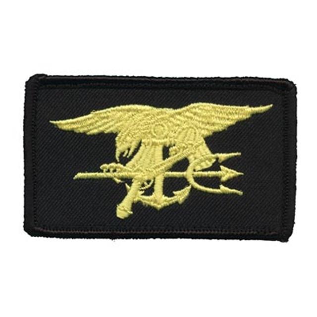 【ミリタリーパッチ】US Naval Warfare SEALs シールズ [4色] フック付き