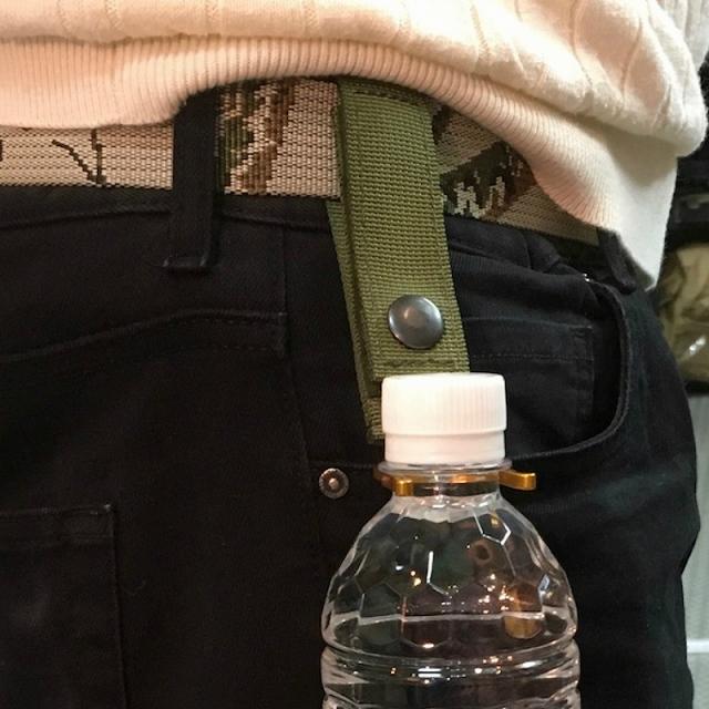 MILITARY(ミリタリー)タクティカル ペットボトル ホルダー ゴールドモデル [Black、Khaki、Multicam、OD]
