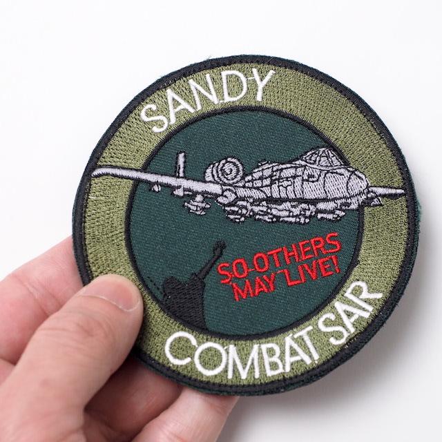 【ミリタリーパッチ】SANDY COMBAT SAR サブデュード [フック付き]