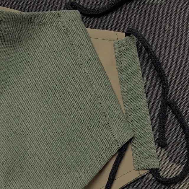 CAPTAIN TOMs ORIGINAL(キャプテントムオリジナル)COOLMAX 立体布マスク [OD/Sand Khaki] 洗える フェイスガード 日本製 米軍生地 クールマックス 冷感