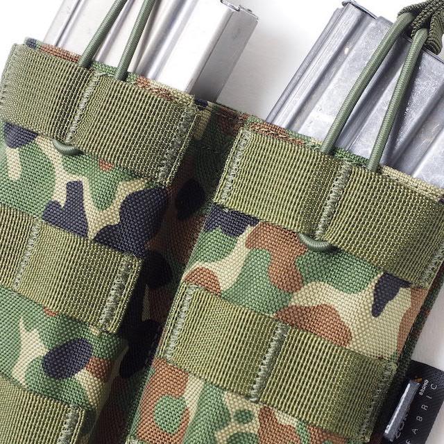 J-TECH(ジェイテック) 5.56mm オープントップマガジンポーチ ダブル [陸上自衛隊迷彩、Multicam]