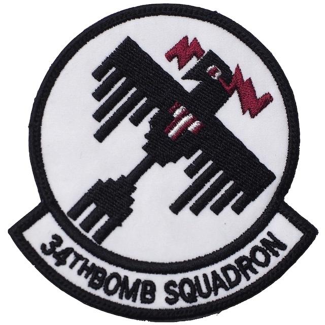 【ミリタリーパッチ】34THBOMB SQUADRON  [フック付き]