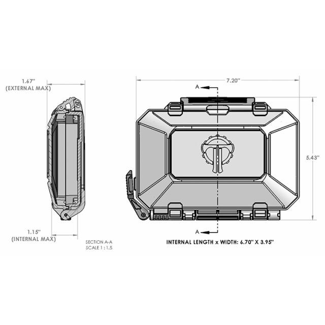 THYRM(サイリム)DarkVault Critical Gear Case Comms Non blocking[4色] 防水ギア ケース