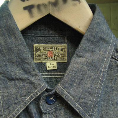 BUZZ RICKSON'S(バズリクソン) L/S CHAMBRAY WORK SHIRT BLUE シャンブレー ワークシャツ ブルー [BR25995]