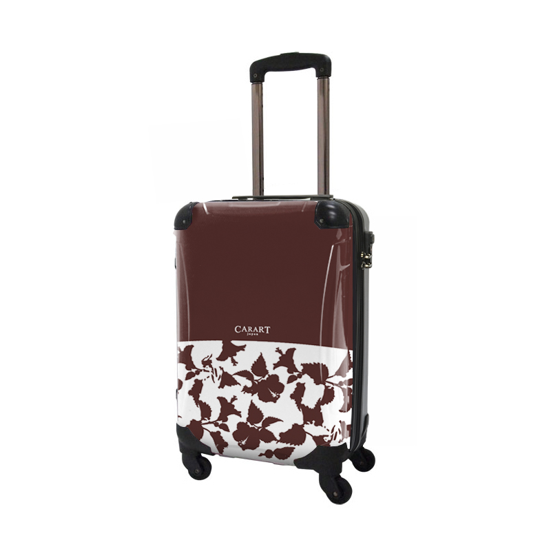 キャラート|アートスーツケース|ベーシック ピポパ(ブラウン)|ジッパー4輪|機内持込