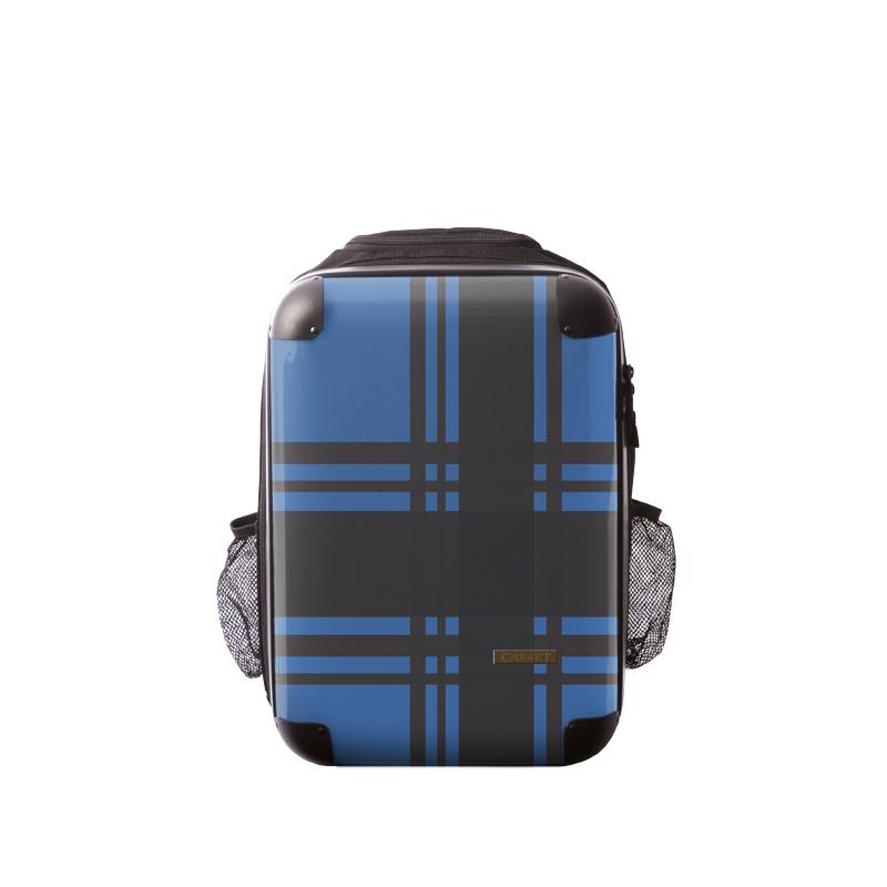 キャラート|アートリュックサック|ベーシック  カラーチェックモダン(ブルー)|S 15inch|M 18inch