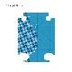 キャラート|着せ替えデザインシート|ベーシック ジオメタリック|ミディアムライトブルー|アートスーツケースCR-A01H用