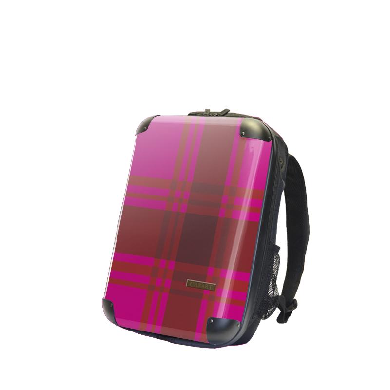 キャラート アートリュックサック ベーシック  カラーチェックモダン(ピンク) S 15inch M 18inch