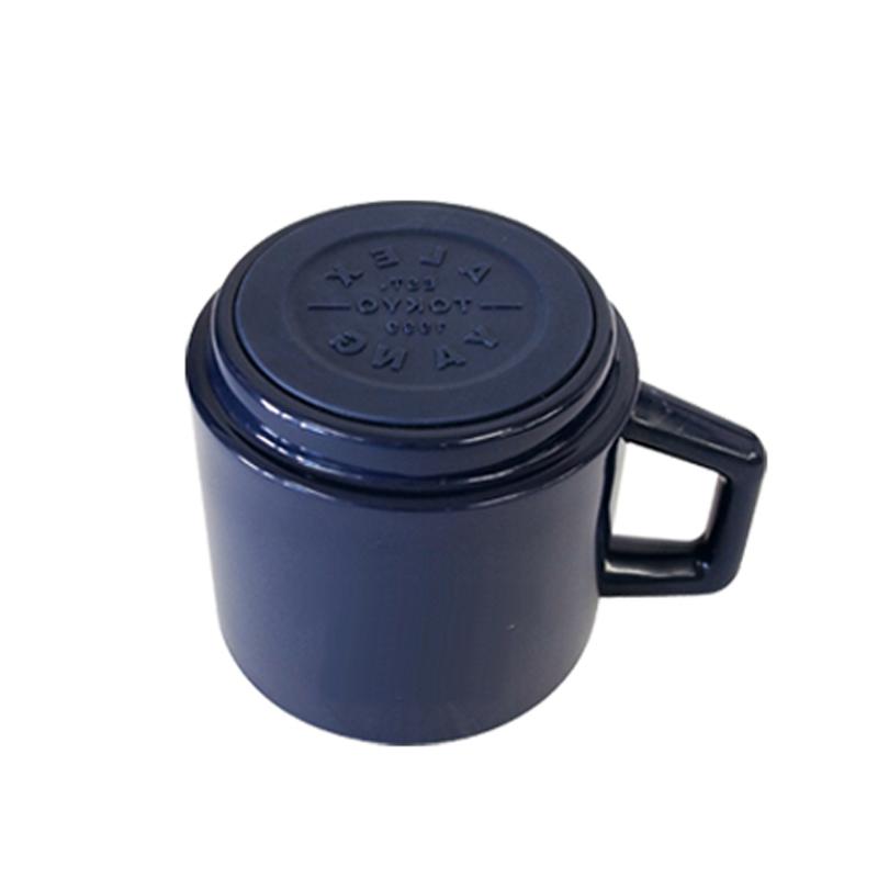 真空ステンレスマグカップ(木蓋付)|410ml ネイビー|ALEXYANG