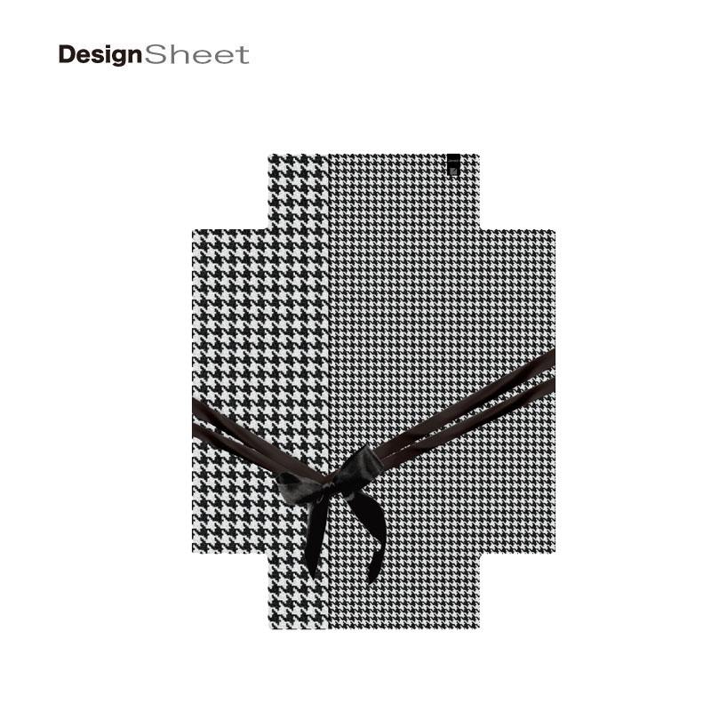 キャラート|着せ替えデザインシート|ベーシック 千鳥格子(モノトーン2)|アートリュックサック用