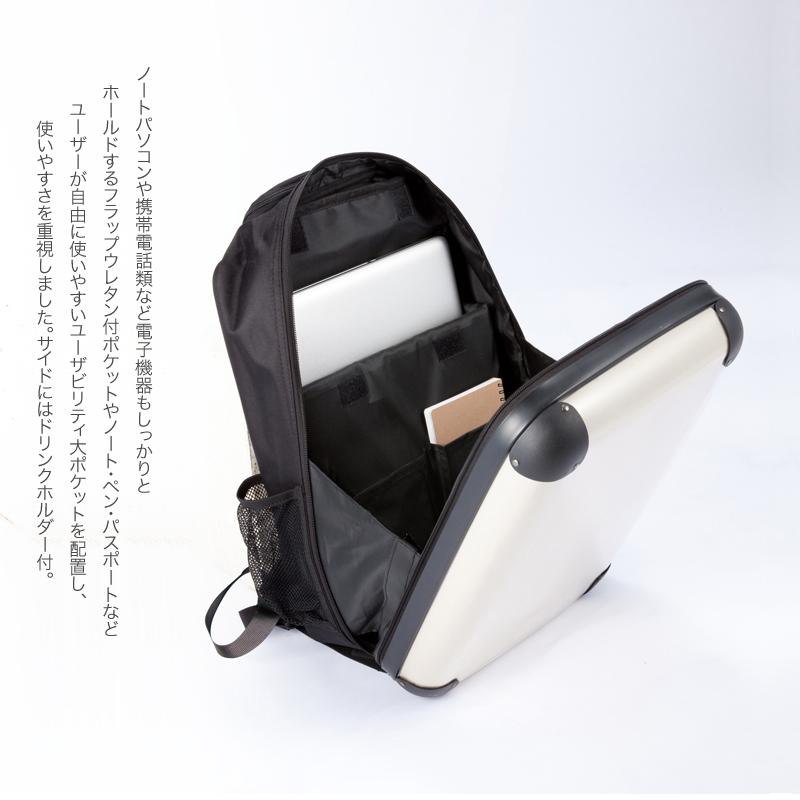 キャラート アートリュックサック ダイアモンドチェック(ブラック×ホワイト×ベージュ) S 15inch M 18inch