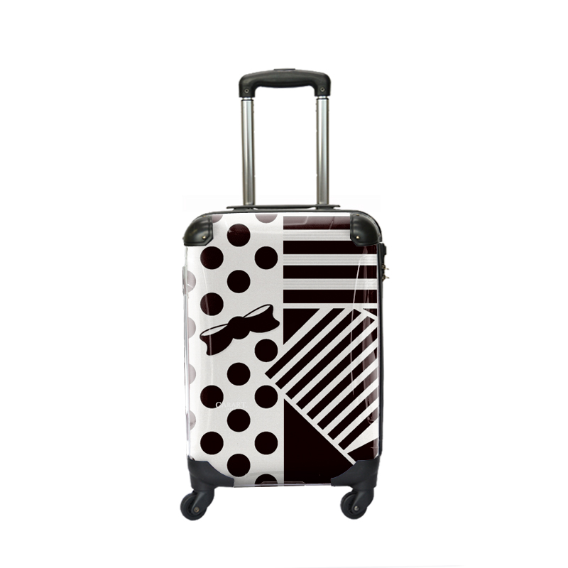 キャラート アートスーツケース プロフィトロール ポポ(ブラック) ジッパー4輪 機内持込