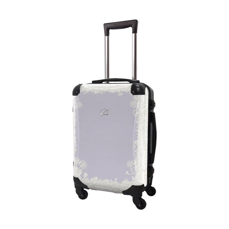 キャラート|アートスーツケース|プロフィトロール スウィート(ラベンダーパープル)|フレーム4輪|機内持込