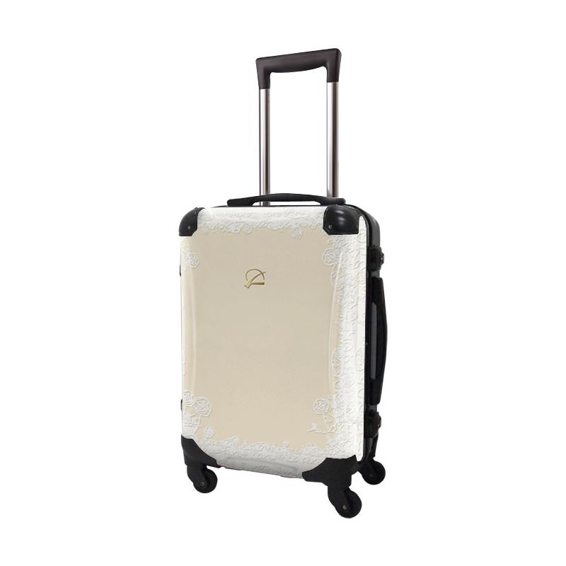 キャラート|アートスーツケース|プロフィトロール スウィート(ブランチアイボリー)|フレーム4輪|機内持込