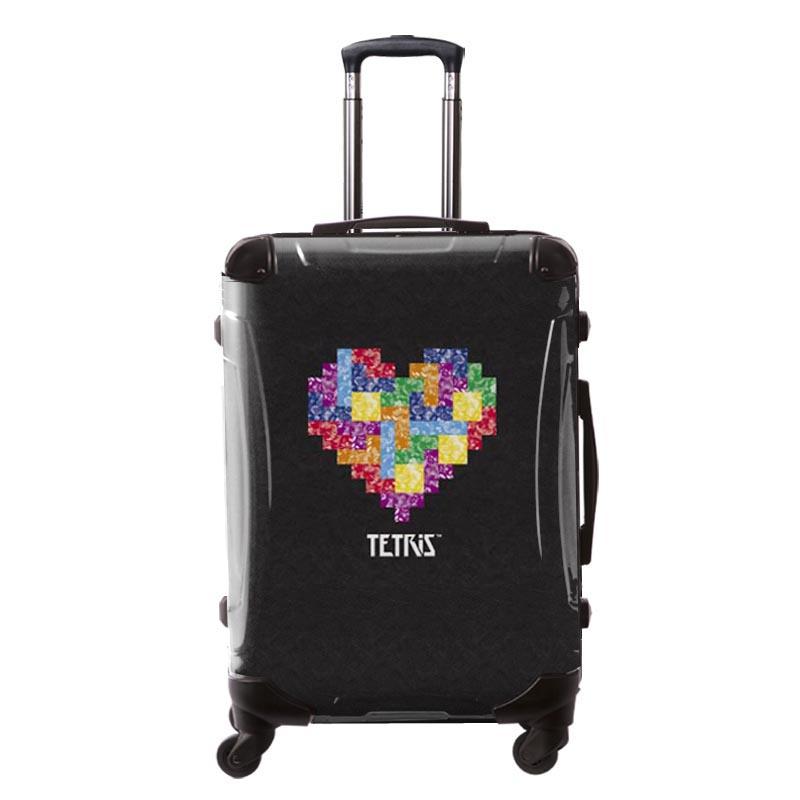 キャラート アートスーツケース TETRIS™ テトリス ハート (ブラック) フレーム4輪 63L