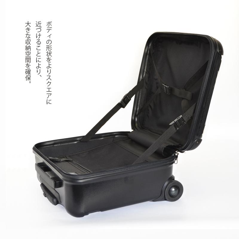 キャラート|アートスーツケース|プロフィトロール スウィート(ホライズンブルー)|ジッパー2輪|機内持込