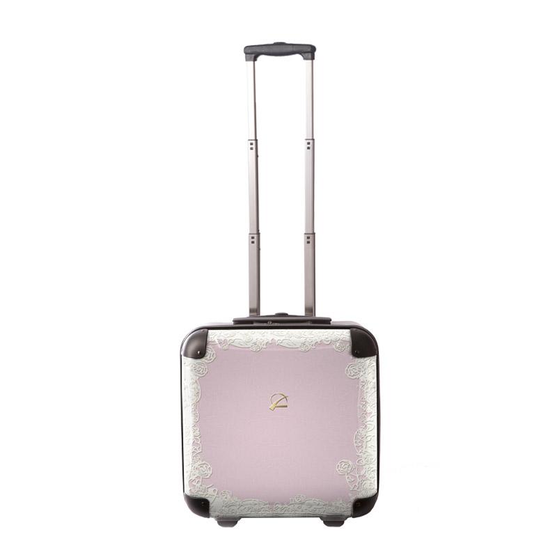 キャラート|アートスーツケース|プロフィトロール スウィート(ピュアピンク)|ジッパー2輪|機内持込