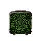 キャラート|アートスーツケース|ベーシック 豹(グリーン)|ジッパー2輪|機内持込