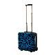 キャラート|アートスーツケース|ベーシック 豹(ブルー)|ジッパー2輪|機内持込