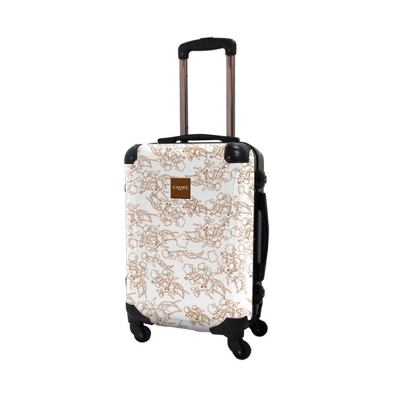 アートスーツケース|ベーシック デパーチャーズ(ホワイト)|フレーム4輪|機内持込|キャラート