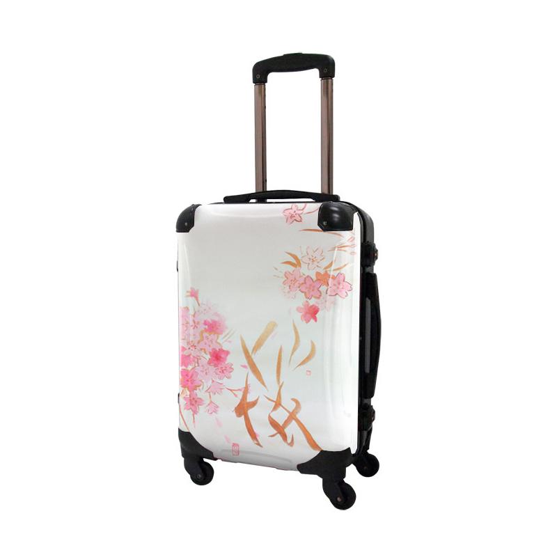 アートスーツケース|古屋育子 桜|フレーム4輪|機内持込|キャラート