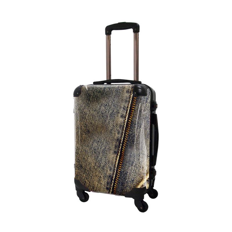 アートスーツケース|ポップニズム デニム(ブルー)|フレーム4輪|機内持込|キャラート