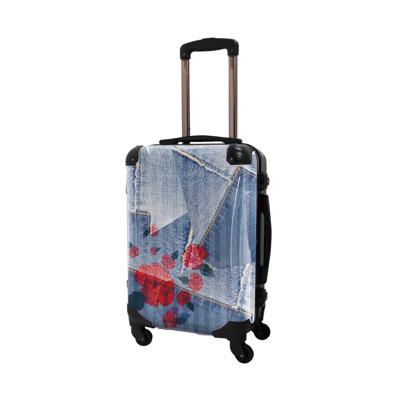 アートスーツケース|ポップニズム デニム(コラージュブルー2 )|フレーム4輪|機内持込|キャラート