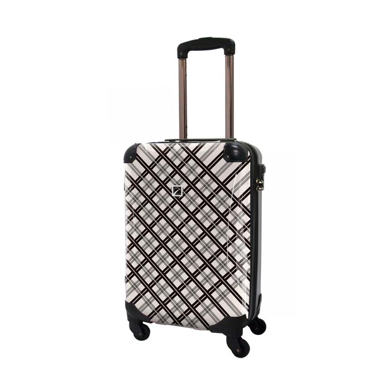 キャラート アートスーツケース ベーシック  スペースチェック(ブラック×グレー) ジッパー4輪 機内持込
