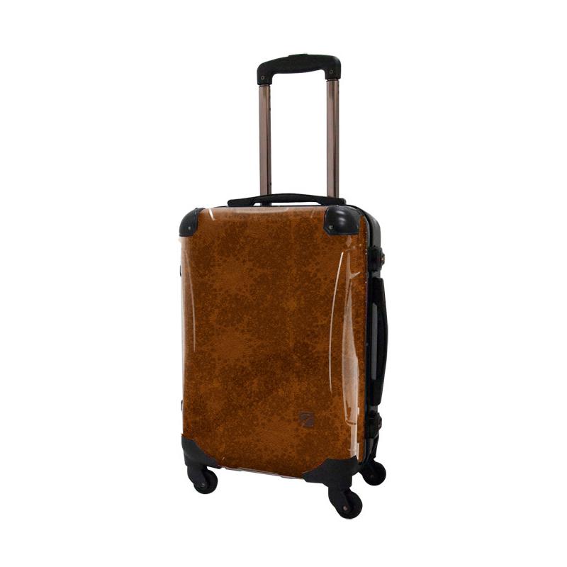アートスーツケース|ポップニズム  エルプラス(ブラウン)|フレーム4輪|機内持込|キャラート