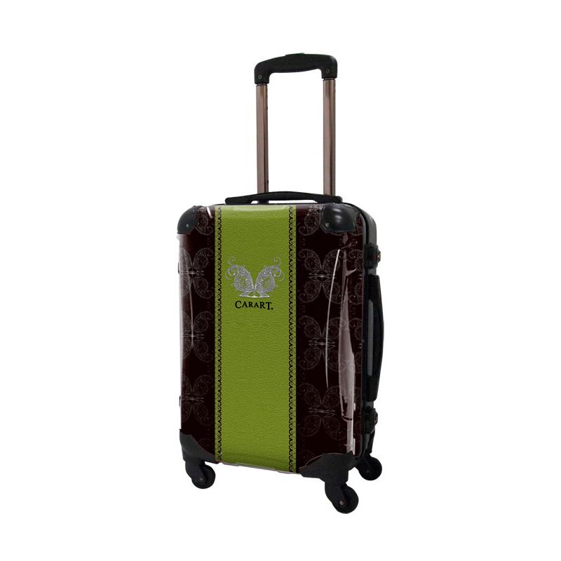アートスーツケース|ベーシック  グラム(グリーン)|フレーム4輪|機内持込|キャラート