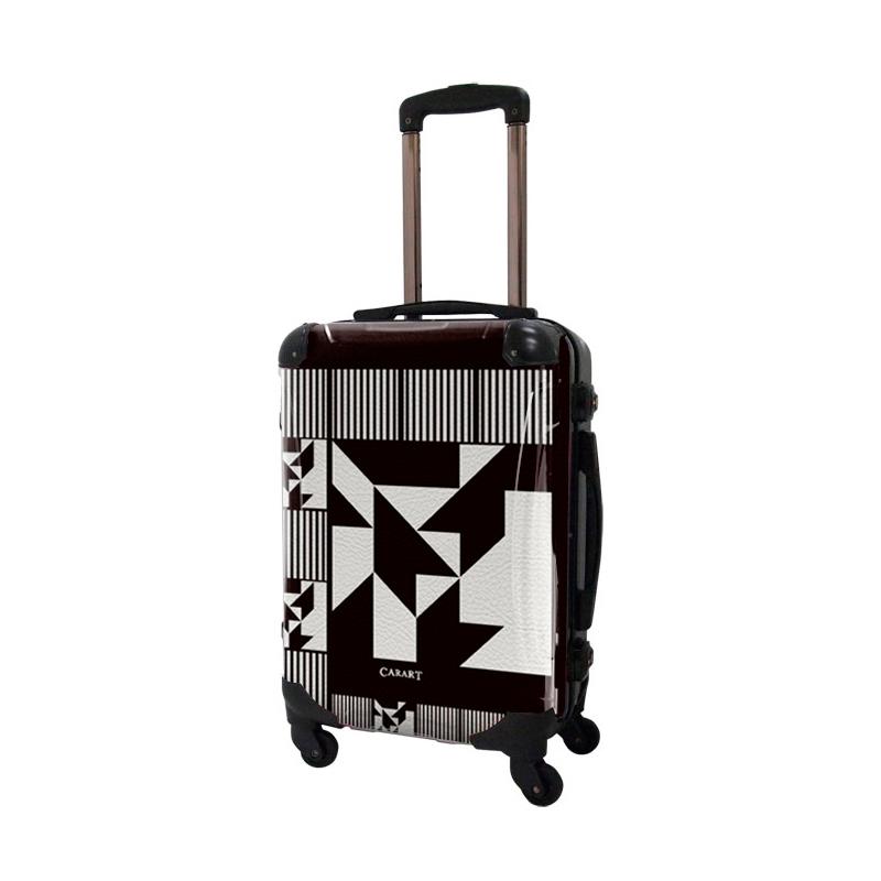 アートスーツケース|ポップニズム ノベル(モノトーン)|フレーム4輪|機内持込|キャラート