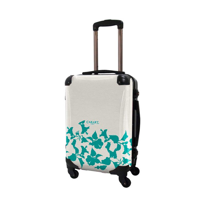 アートスーツケース ベーシック ピポパ(リーフエメラルド) フレーム4輪 機内持込 キャラート
