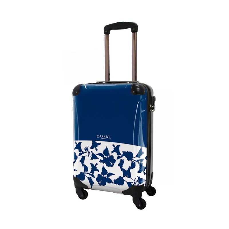 キャラート|アートスーツケース|ベーシック ピポパ(ネイビー)|ジッパー4輪|機内持込