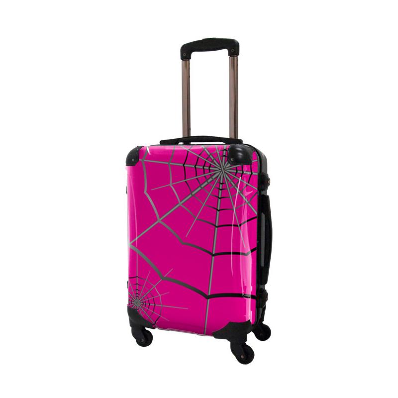 アートスーツケース|広純 SPIDER(ピンク)|フレーム4輪|機内持込|キャラート