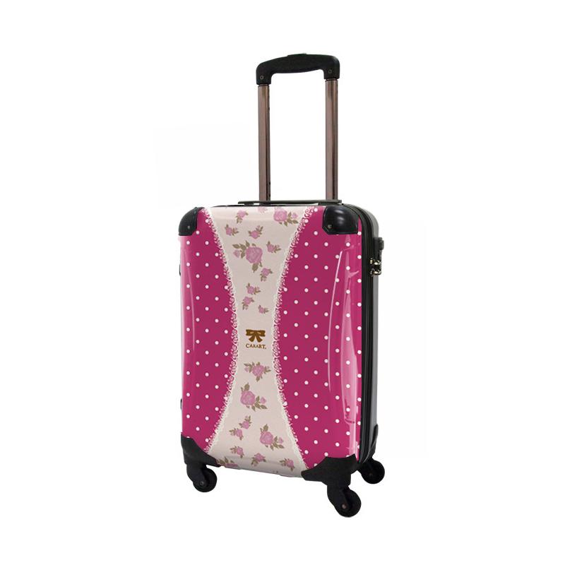 アートスーツケース|プロフィトロール ゆるり1(真紅)|ジッパー4輪|機内持込|キャラート